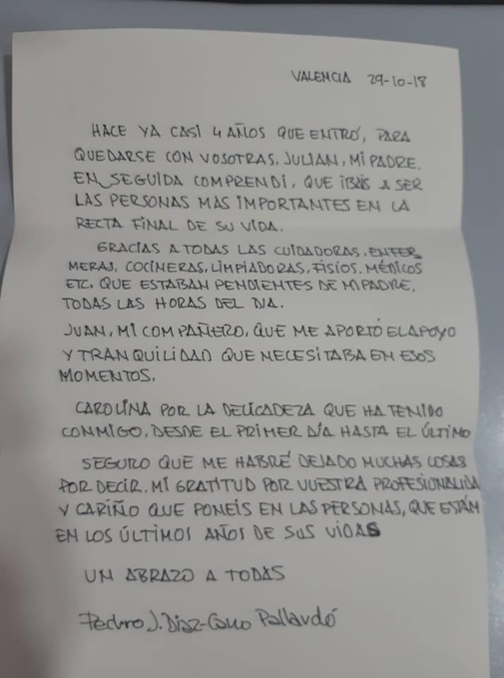carta de familiares de residentes